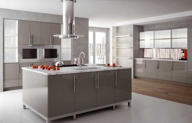 High Gloss Solid Surface Kitchen - Modern - Kitchen - Charlotte - by Element Designs