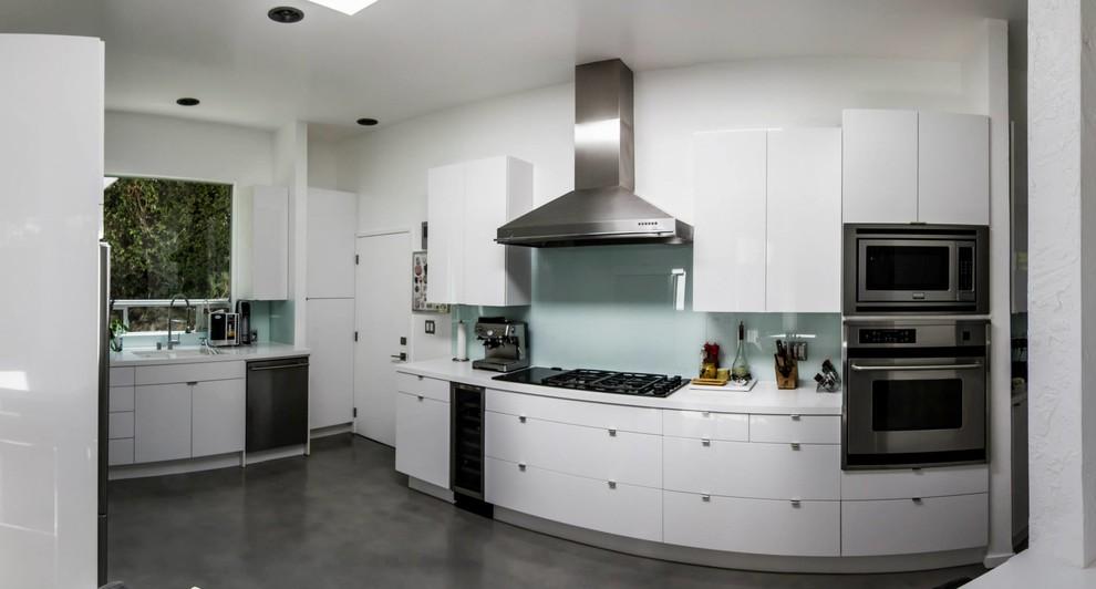 High Gloss White Kitchen - Modern - Kitchen - Los Angeles ...