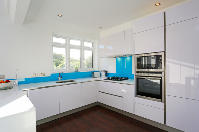 High gloss white kitchen modern kitchen london by for Modern kitchen london