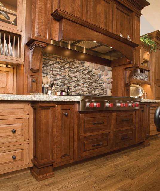High Mountain Lodge rustic-kitchen