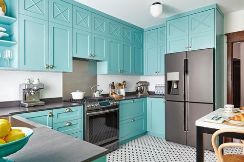 Alcôve & Shade : Osez le bleu dans la cuisine ! 10 exemples ...