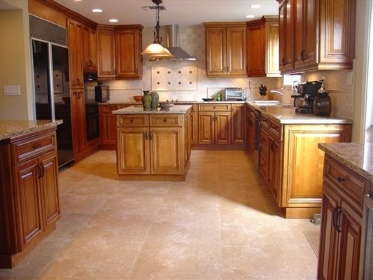 High Profile Toffee with Brown Glaze traditional-kitchen