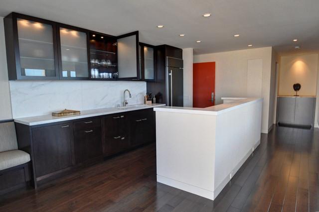 Highrise Apt. contemporary-kitchen
