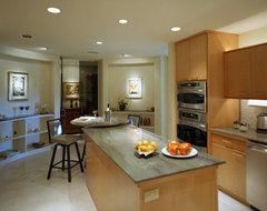 Highrise Interior Renovation contemporary-kitchen