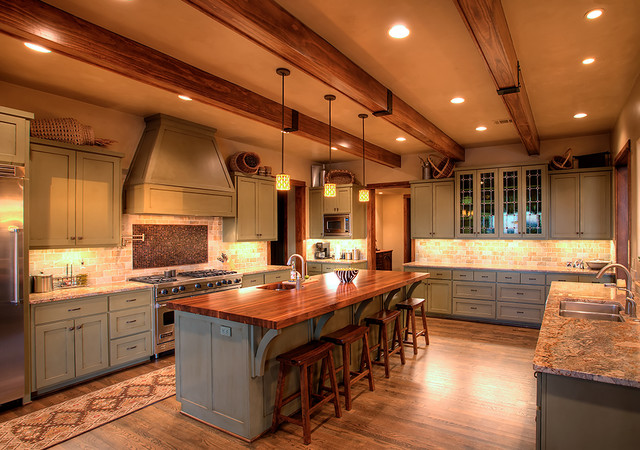Hill Country Contemporary rustic-kitchen