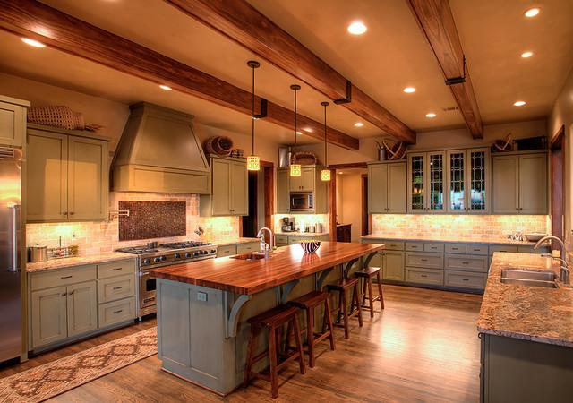 Hill Country Craftsman Kitchen contemporary-kitchen