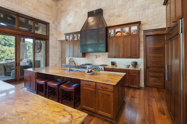 Hill Country Custom Home Rustic Kitchen Austin By Dawn Hearn Interior Design