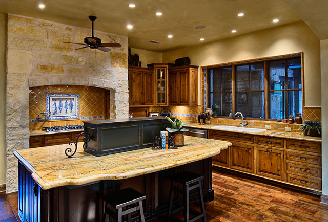 Hill Country Ranch Kitchen Traditional Kitchen
