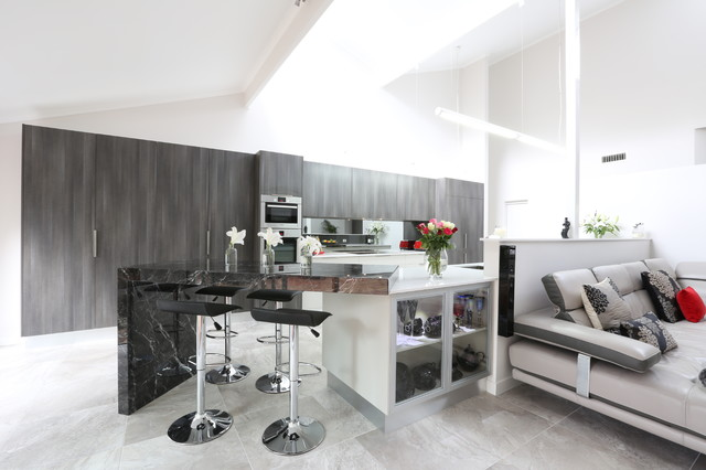 Hill top view Contemporary Kitchen other metro by