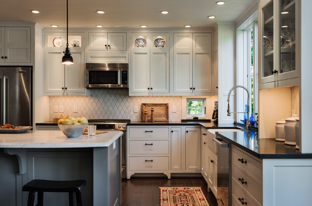 Hills beach cottage beach style kitchen portland maine by whitten architects Kitchen design center virginia beach