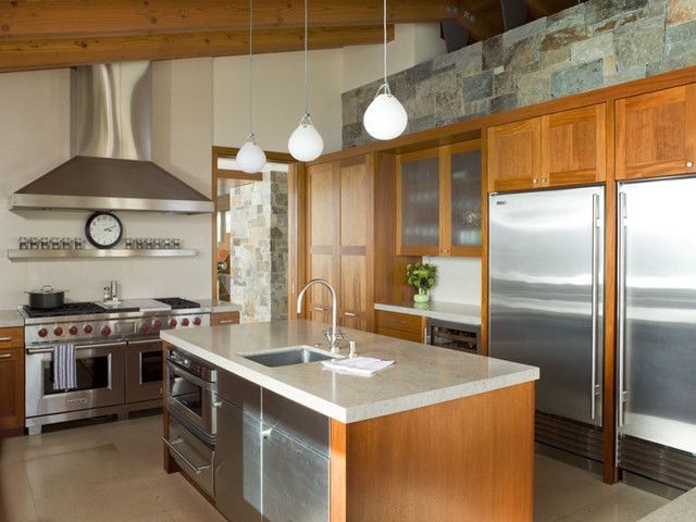 Hillside Residence contemporary kitchen