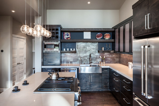 Industrial Kitchen by Jordan Iverson Signature Homes