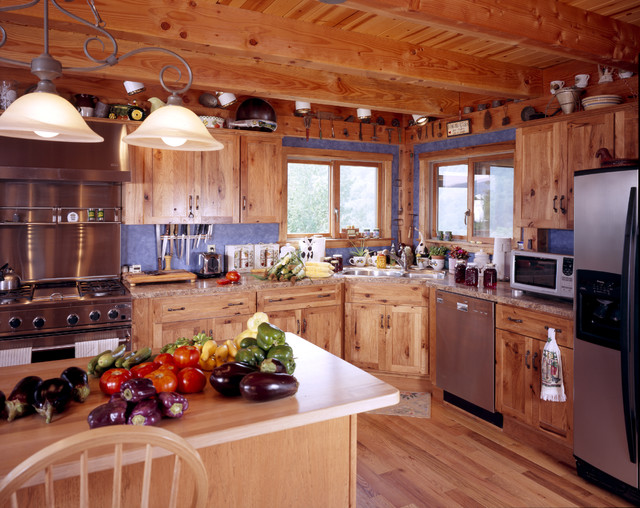 Hillview Lodge traditional-kitchen