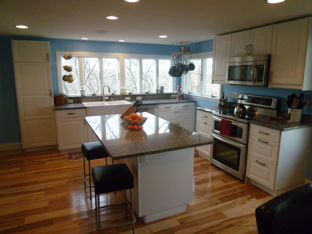 Hingham Kitchen Transformation eclectic kitchen