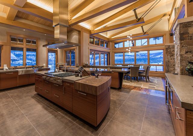 Hinman Creek rustic-kitchen