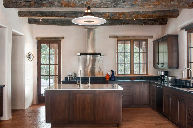 Historic adobe remodel southwestern kitchen - Southwestern home design and remodeling ...