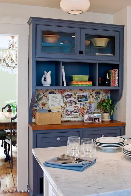 Historic Blue Hutch traditional-kitchen