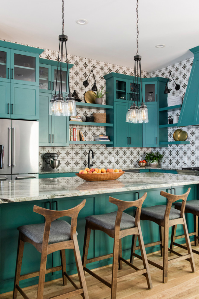 Inspiration for a transitional kitchen remodel in Houston