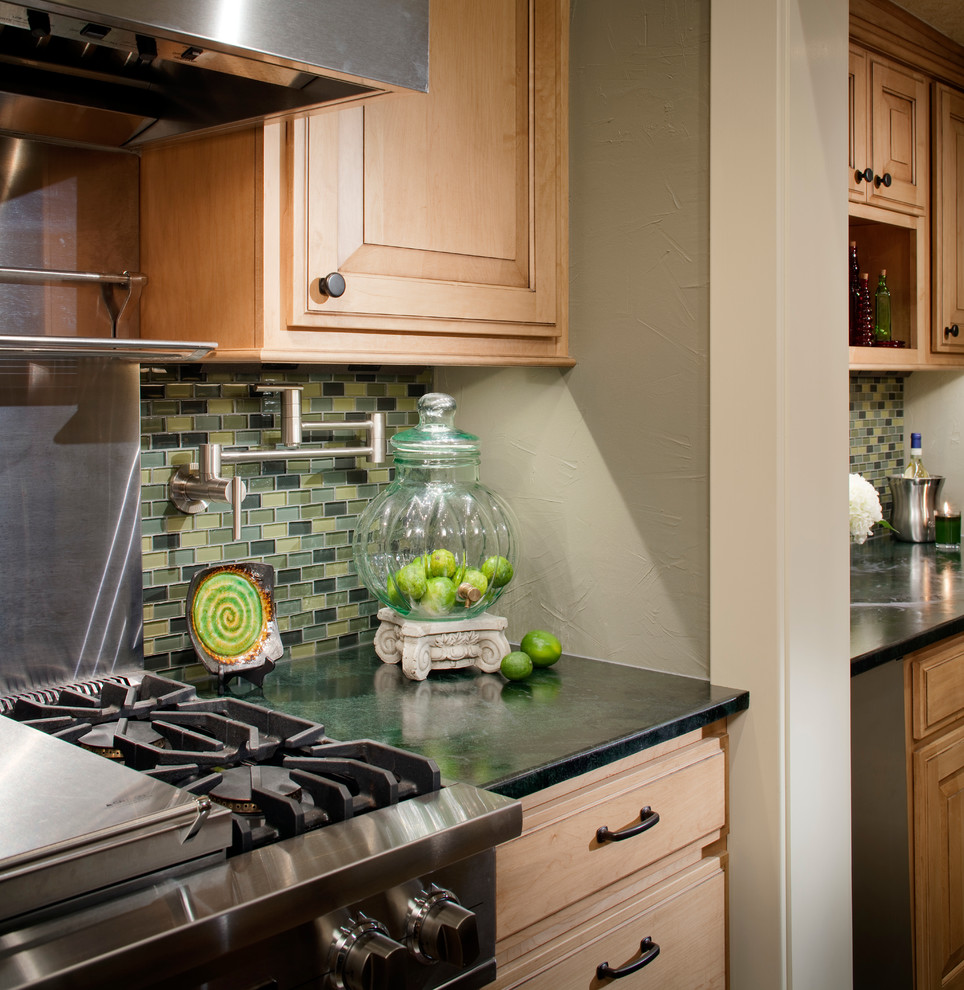 Inspiration for a transitional kitchen remodel in Kansas City