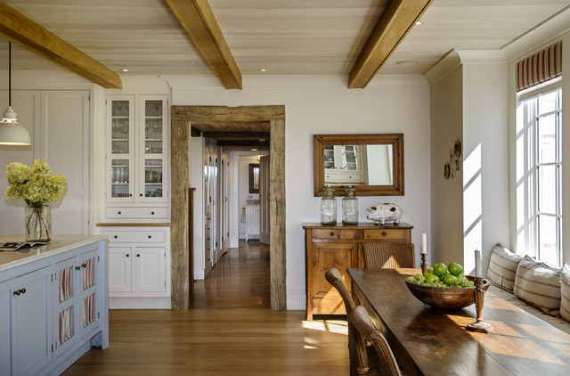Historic Home Expanded Farmhouse Kitchen New York