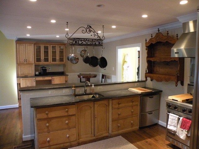Historic House  Kitchen Remodel Virginia Mist Granite traditional kitchen