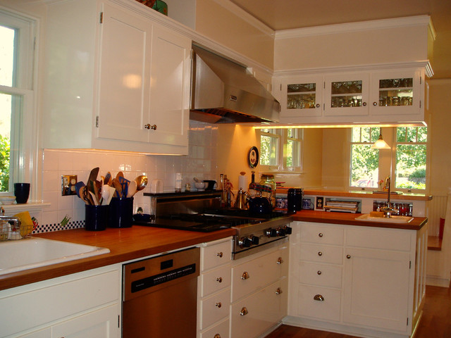Historic South University Home traditional kitchen