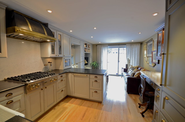 Historic townhouse kitchen and bathroom transformation traditional-kitchen
