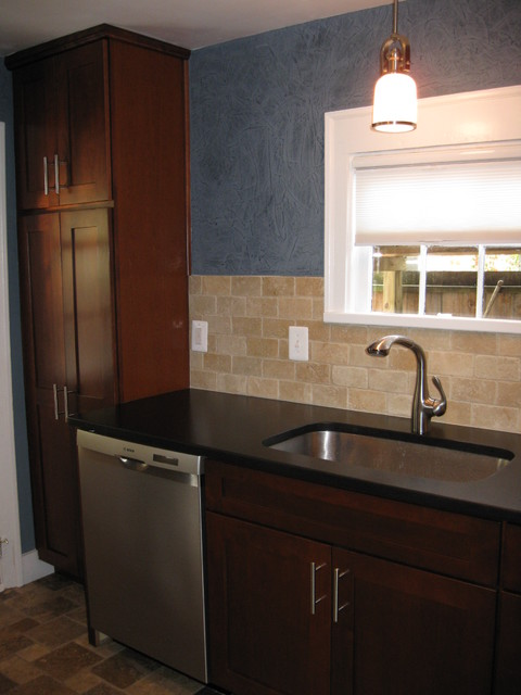 Historical Old Town Alexandria Townhome contemporary-kitchen