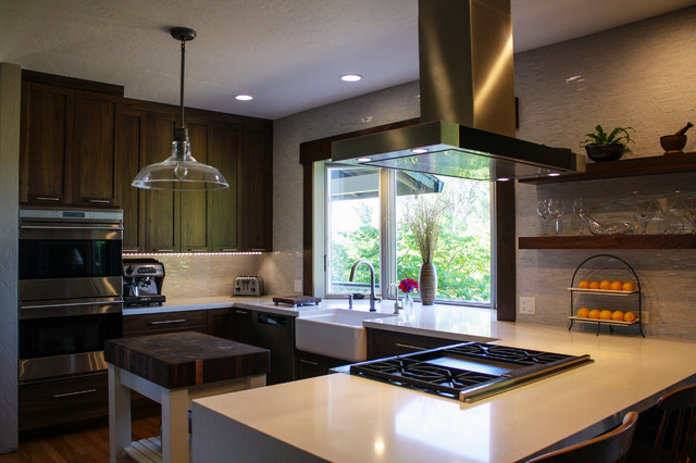 Holder Before/After contemporary-kitchen
