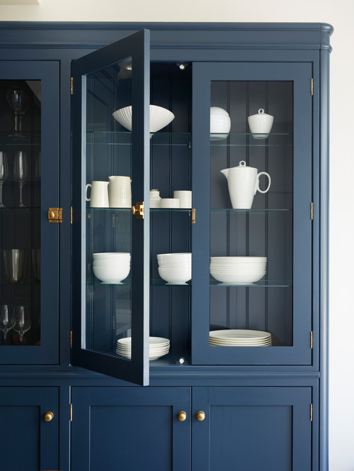Navy And White Sophisticated Kitchen Town Amp Country Living