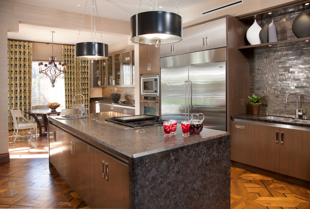 Hollywood Glamour contemporary-kitchen