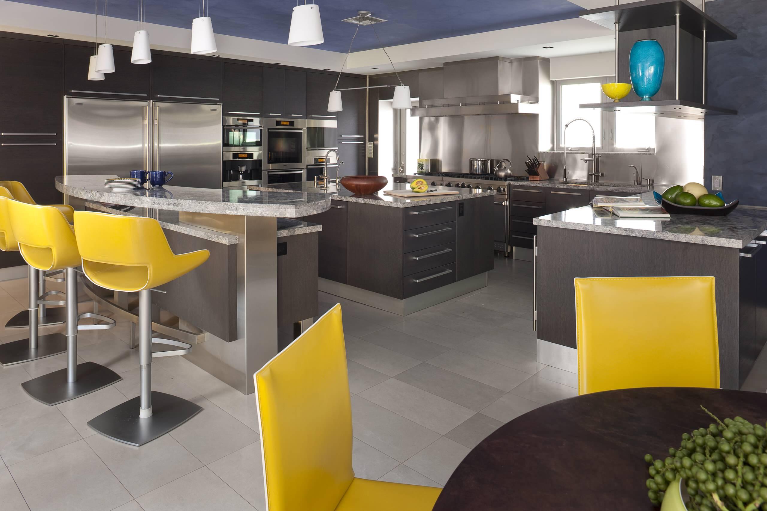 Yellow And Gray Kitchen Houzz