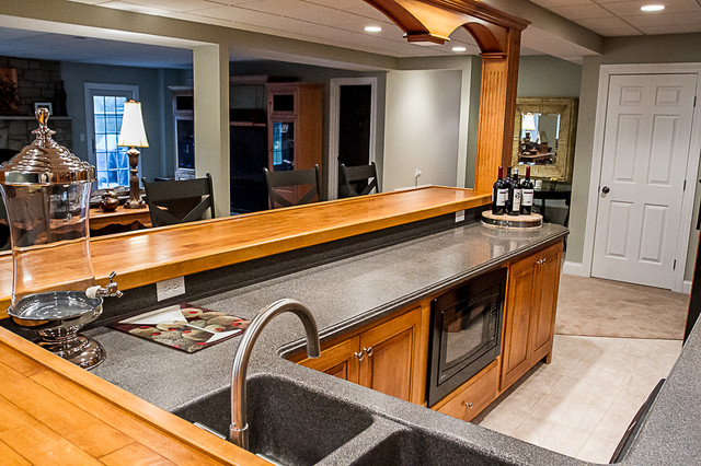 home bar area traditional kitchen cleveland by superior