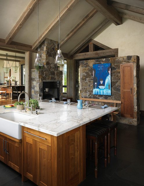 Home in jackson wy rustic kitchen other metro by for Kitchen jackson hole