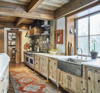 Homecoming Rustic Kitchen Burlington By Cushman