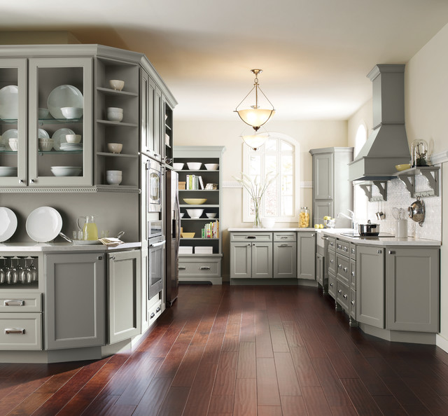 Homecrest Cabinetry Gray Kitchen Cabinets
