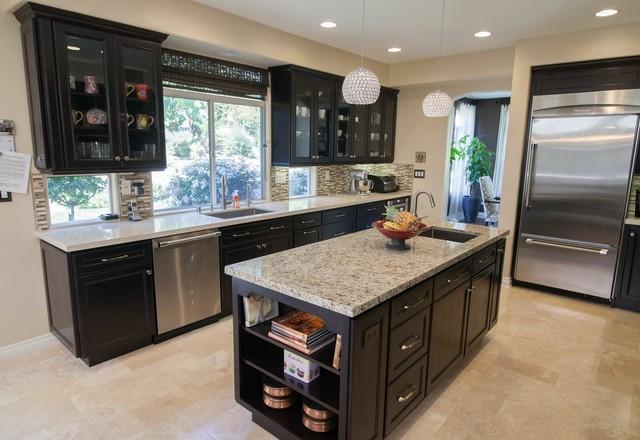 HomeCrest Maple Java traditional-kitchen