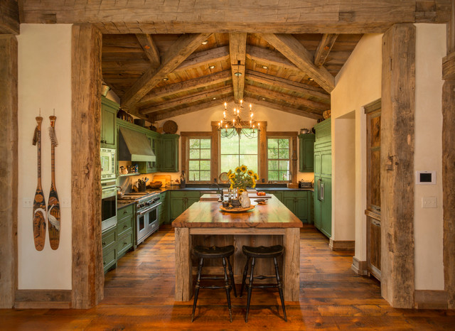 Homestead Pioneer Ranch Rustic Kitchen Denver By