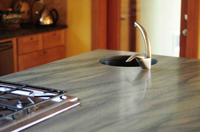 Honed Granite Counter Top - Kitchen - Portland - by Julianna Smith