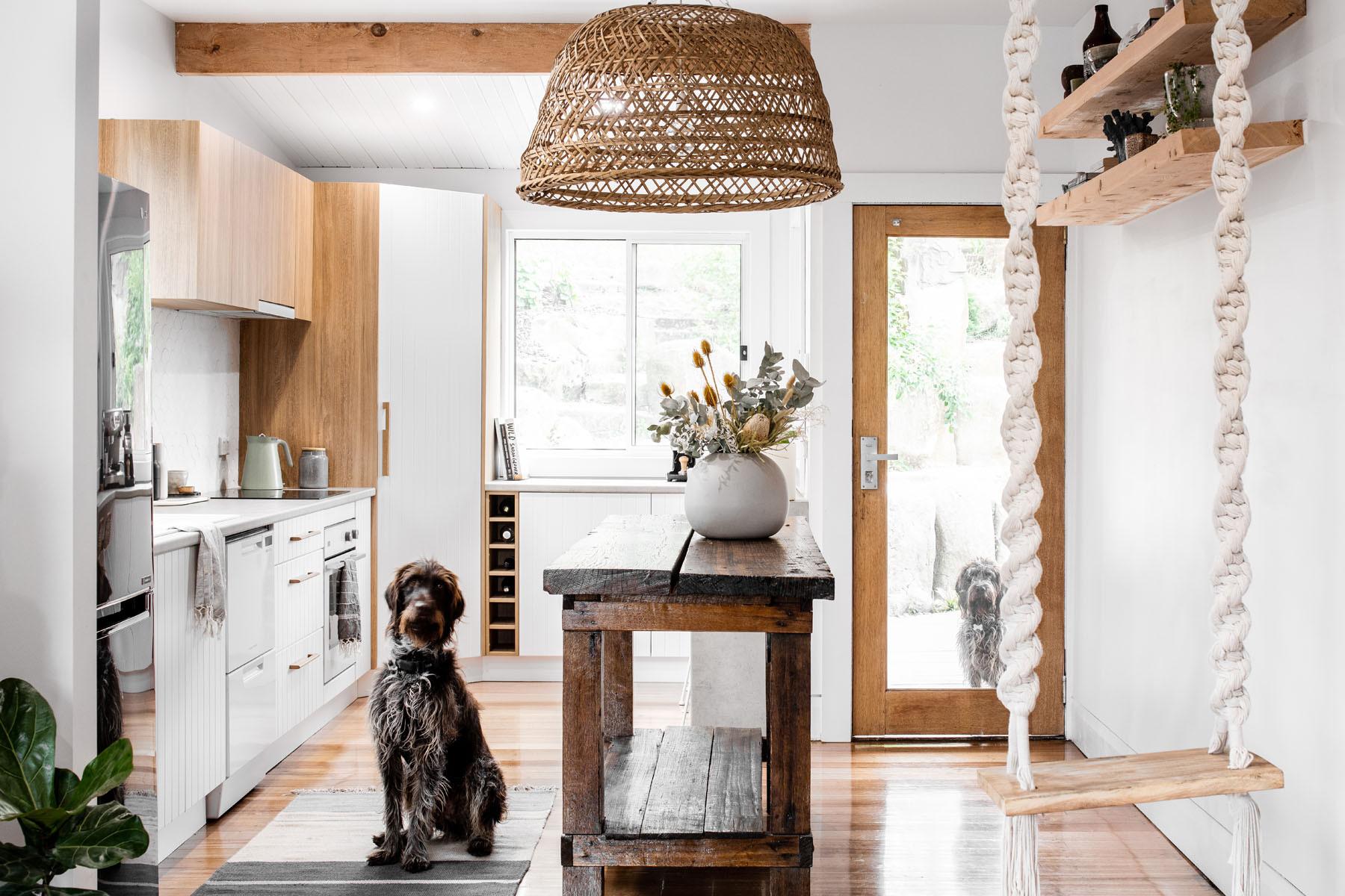 Honey Elm   Beach Style   Kitchen   Hobart   by Kitchen Centre ...