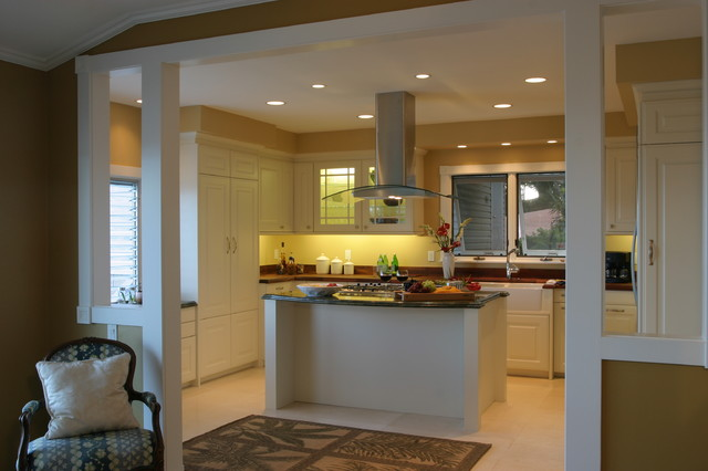 Honolulu White contemporary kitchen