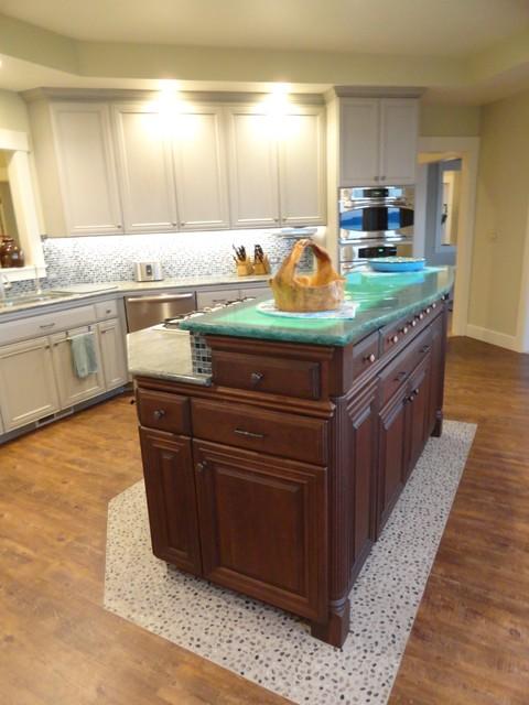 Hood Canal Waterfront Kitchen Remodel beach-style-kitchen