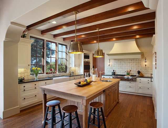 hope ranch spanish style custom home kitchen mediterranean kitchen santa barbara by