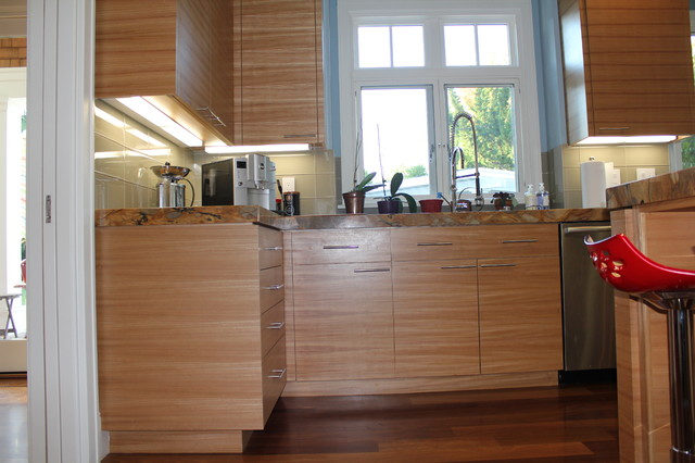 Horizontal Grain Modern Kitchen San Francisco By Roth Wood Products