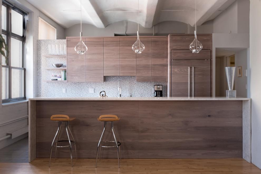 Horizontal Grain Walnut Kitchen - Contemporary - Kitchen ...