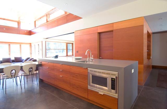 Horizontal Mahogany Kitchen and Bath Renovation contemporary-kitchen