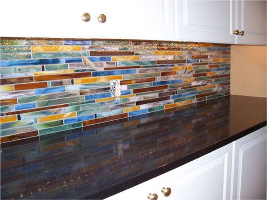 horizontal tile backsplash