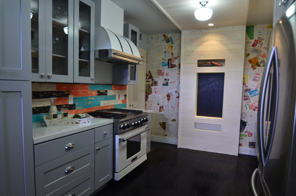 House Crashers Painted Shaker Cabinets Eclectic Kitchen Los Angeles By Rta Cabinet Store