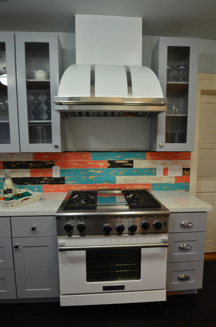 House Crashers- Painted Shaker Cabinets - Eclectic - Kitchen - Los Angeles - by RTA Cabinet Store