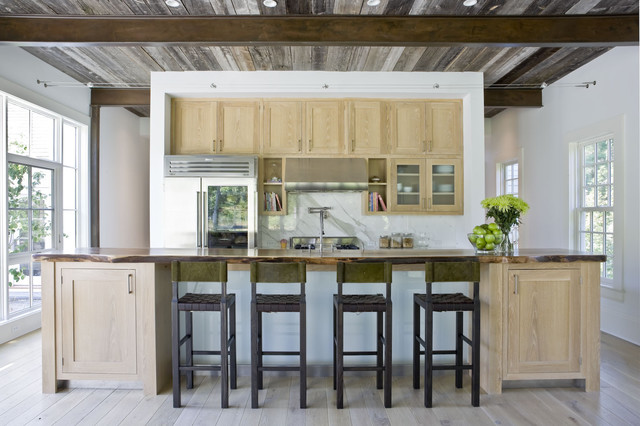 House in darien rustic kitchen new york by for Cerused oak kitchen cabinets